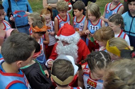 Santa came to Pitt Park